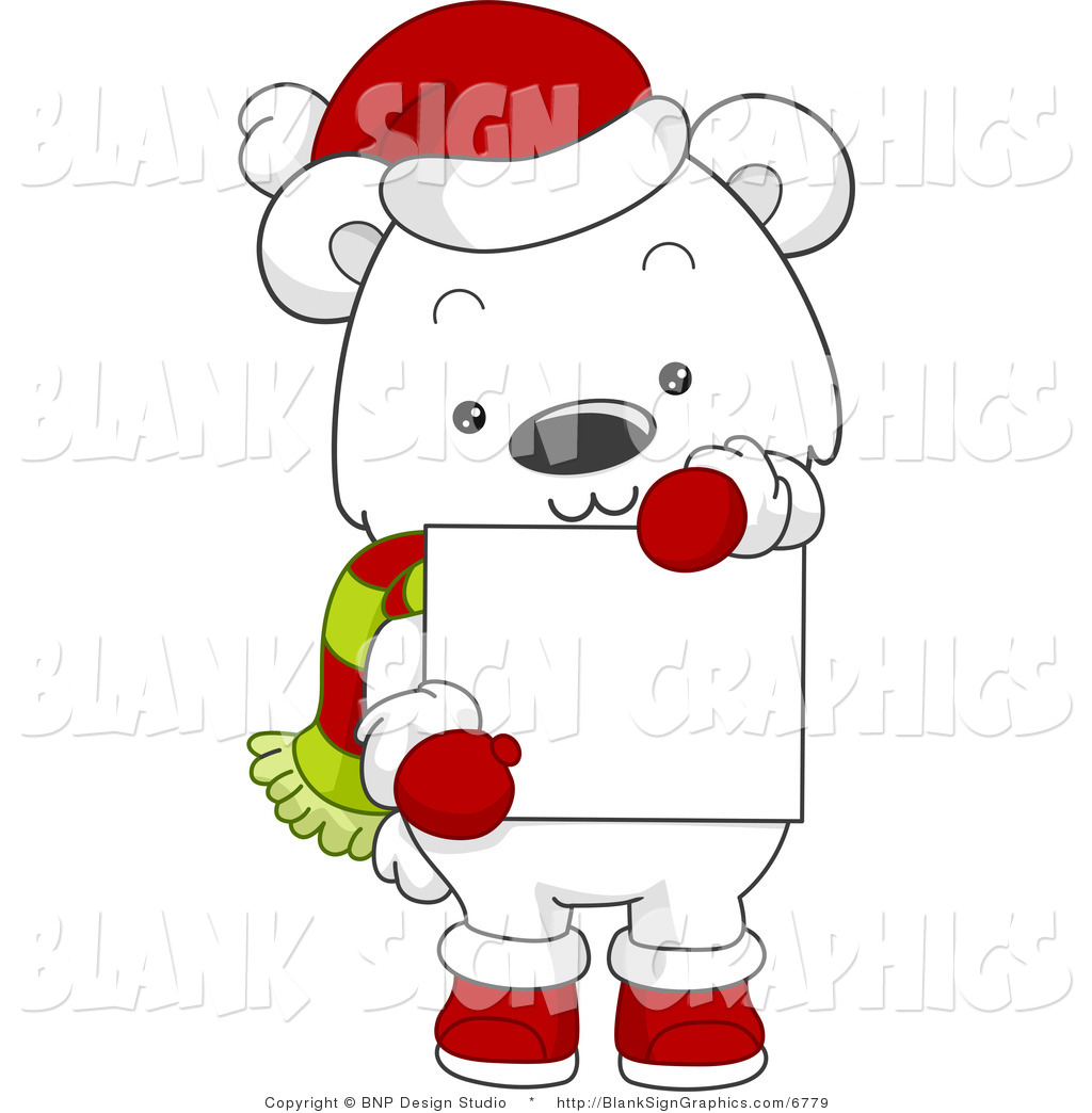 Christmas Polar Bear Clipart This Polar Bear Stock Blank