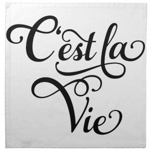 Est La Vie That S Life French Word Art Text