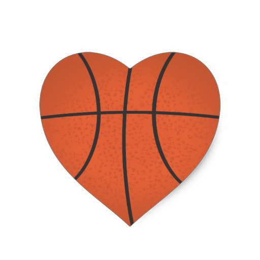 Heart Shaped Basketball Sticker #dvXB1f - Clipart Suggest