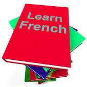 Learn French Book For Studying A Language   Royalty Free Clip Art