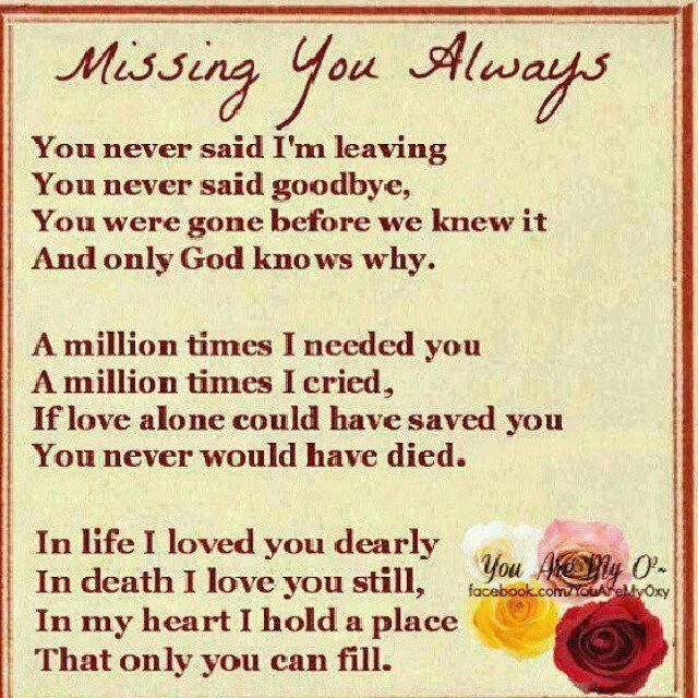Missing You Always Mom 2yrs Ago Today 1 5 14