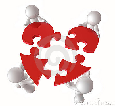 Put Together A Heart Puzzle Pieces Stock Images   Image  8576384