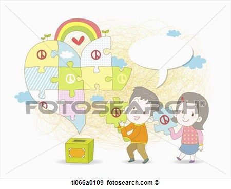 Putting The Voting Puzzle Together Ti066a0109   Search Vector Clipart