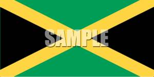 The Flag Of Jamaica   Royalty Free Clipart Picture