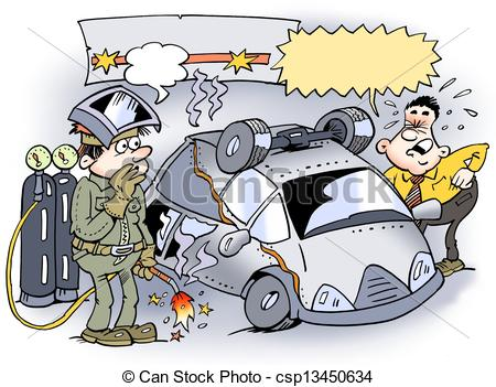 Welding Have Put The Car Wrong Together Csp13450634   Search Clipart