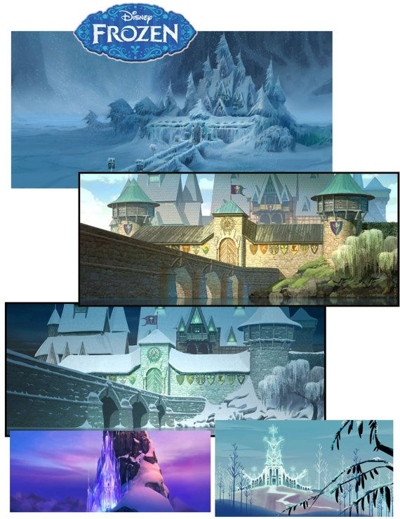 Arendelle Castle Disney Frozen Castles Clip Art By Tahdahstudio  6 00