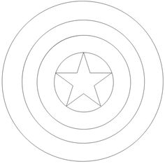 Captain America Logo Coloring Page More