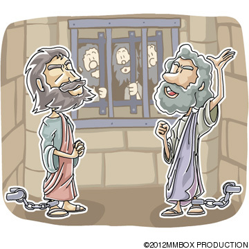 Christian Cliparts Net   Paul And Silas Praised God In Prison