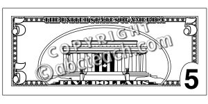 Five Dollar Bill Coloring Page - Printable Coloring Pages For Kids ...