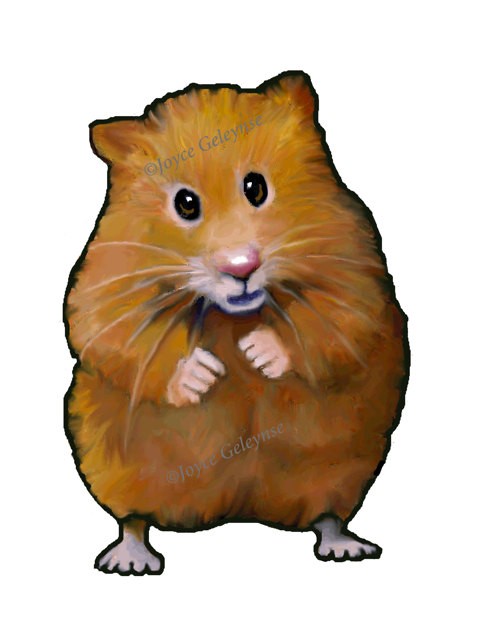 Clip Art Hand Drawn Hamster Pet Animal By Toadstoolprintables Clipart