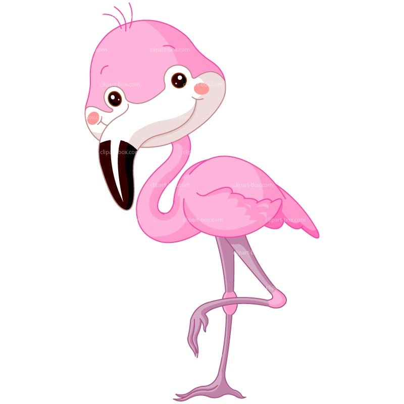 Clipart Pink Flamingo   Royalty Free Vector Design