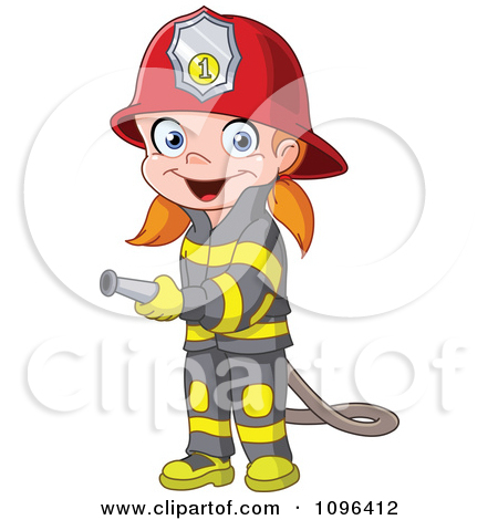 Girl On Fire Clip Art