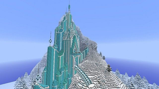 Elsa S Ice Castle   Frozen Map 1 7 10   Minecraft Maps