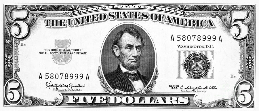 Five Dollar Bill Clipart Clipart Suggest