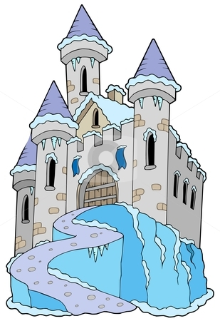 Frozen Castle Stock Vector Clipart Frozen Castle On White Background