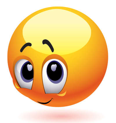 blushing smiley face clipart   clipart suggest