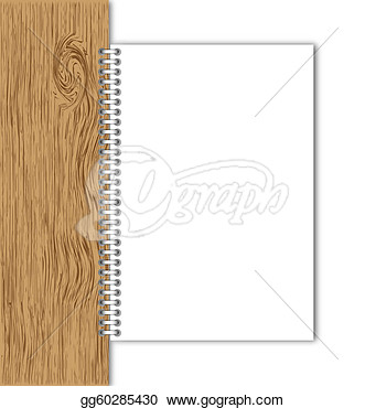 Illustration   New Paper Page Hold By Wood Board   Clip Art Gg60285430