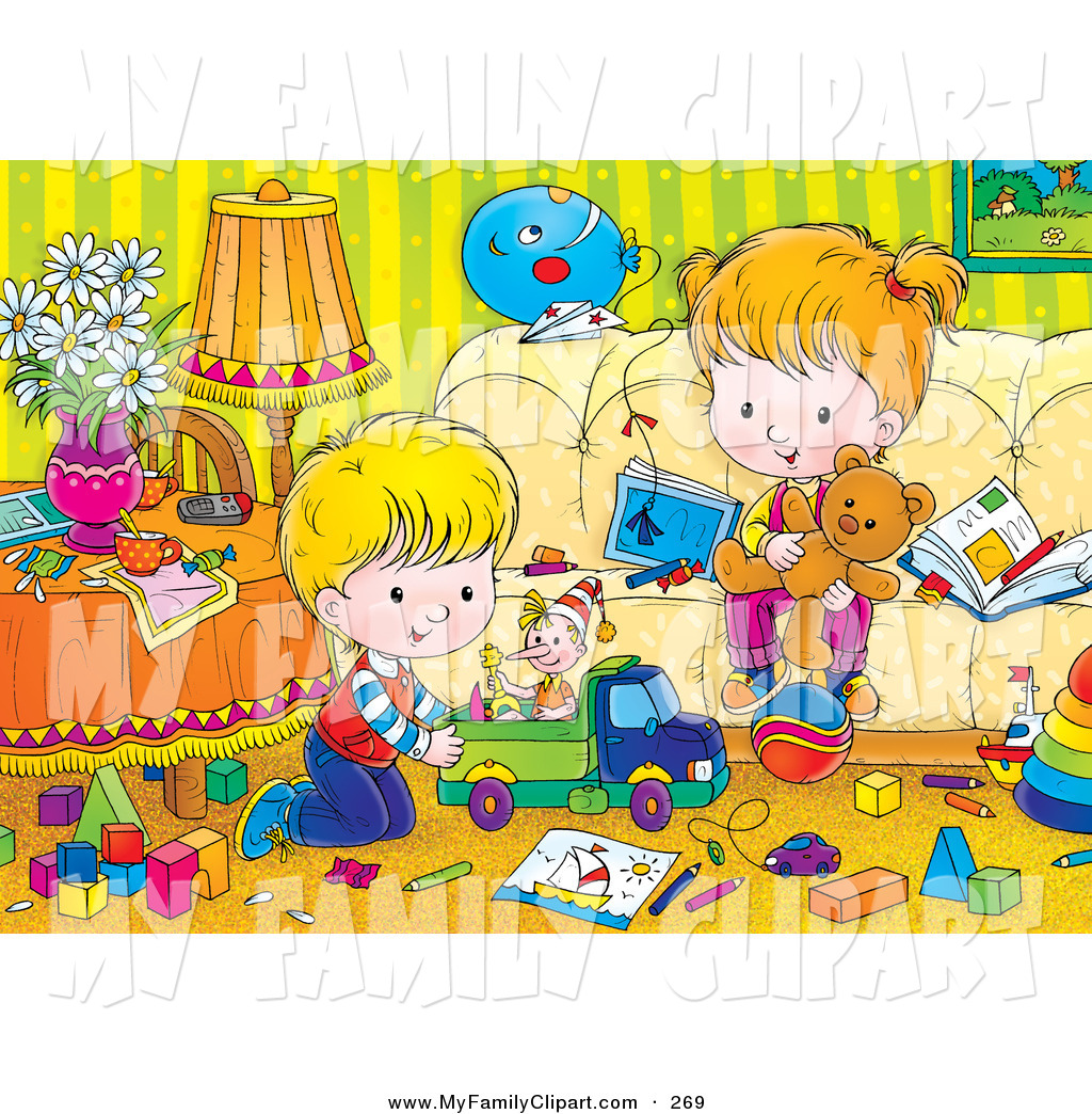 Messy Living Room Clipart   Royalty Free  Rf  Clip Art Illustration Of