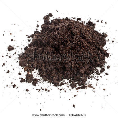 Pile Heap Of Soil Humus Isolated On White Background   Stock Photo