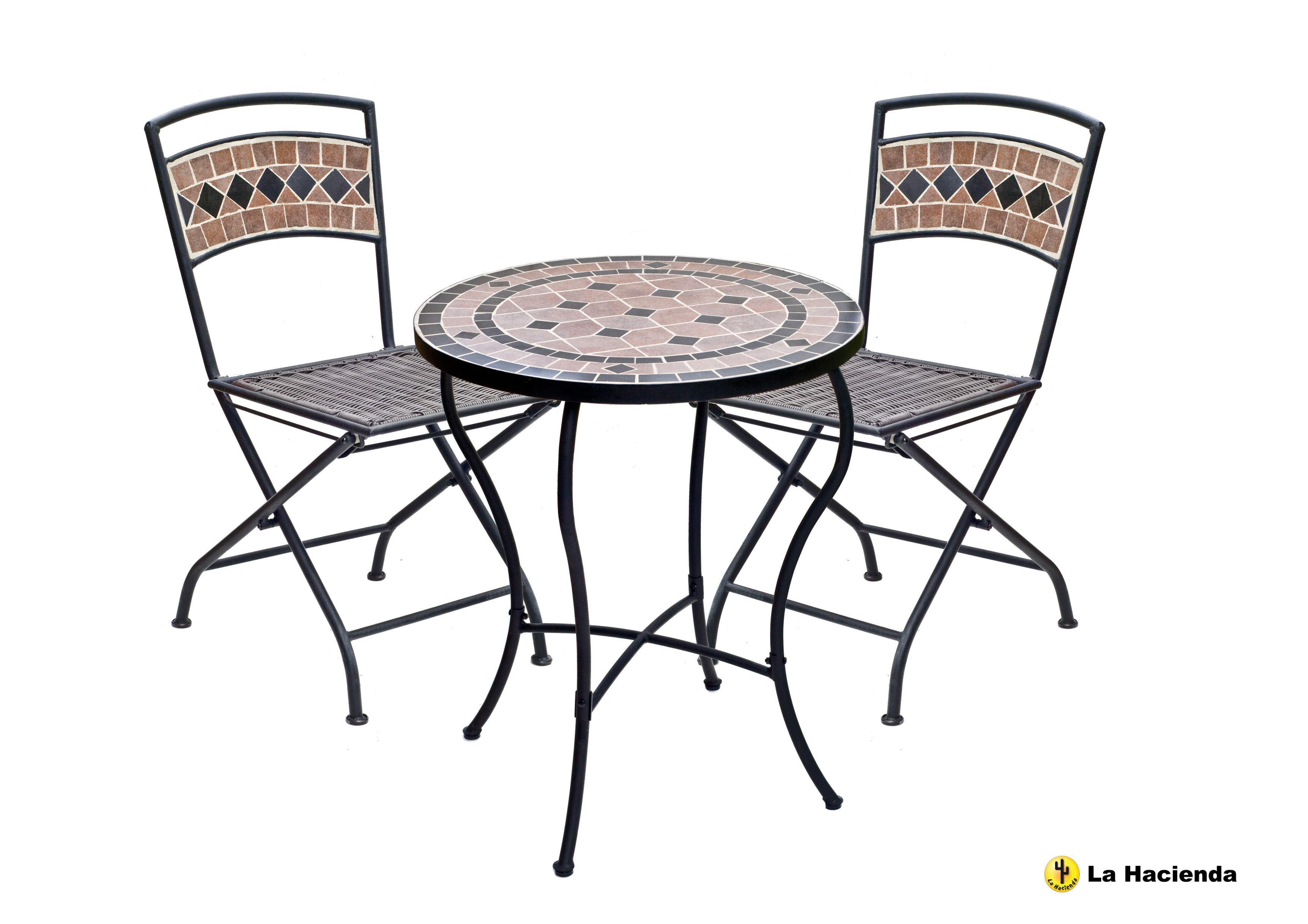Pompei Bistro Table   Chair Set  2 Chairs  Patio Garden Porch  Cafe
