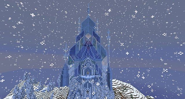 Rendition Of Elsa S Ice Castle  Frozen  Minecraft Project