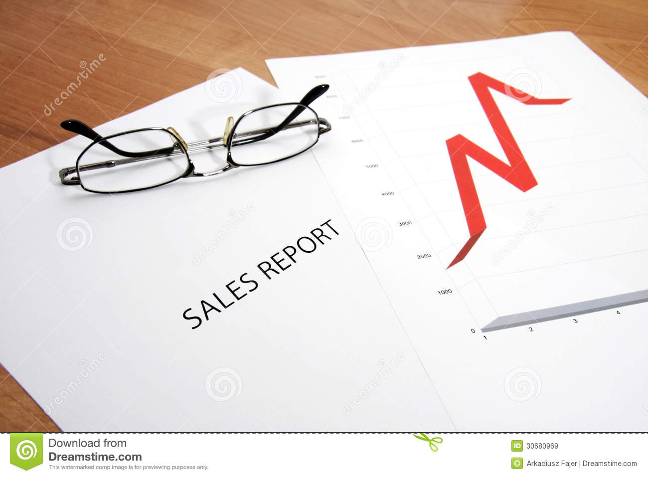 Sales Report Royalty Free Stock Images   Image  30680969