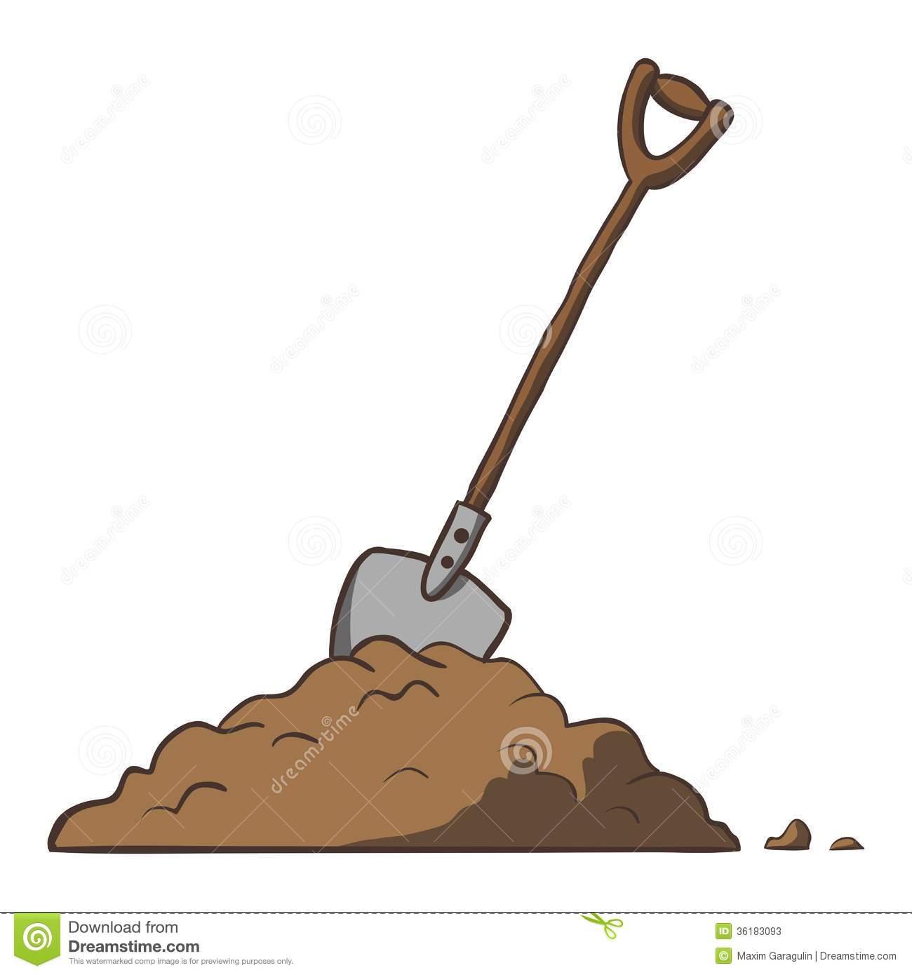 Dirt and Shovel Clip Art