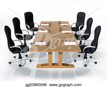 Stock Illustration   Business Meeting  Clipart Drawing Gg53860096