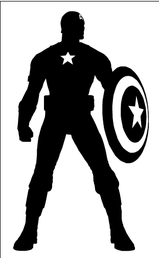 There Is 28 Captain America Shield Black And White   Free Cliparts All