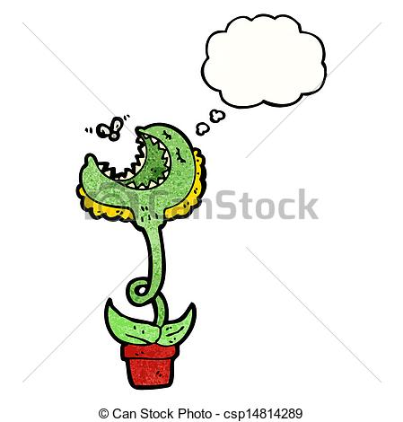 Vector Of Cartoon Venus Fly Trap Csp14814289   Search Clip Art