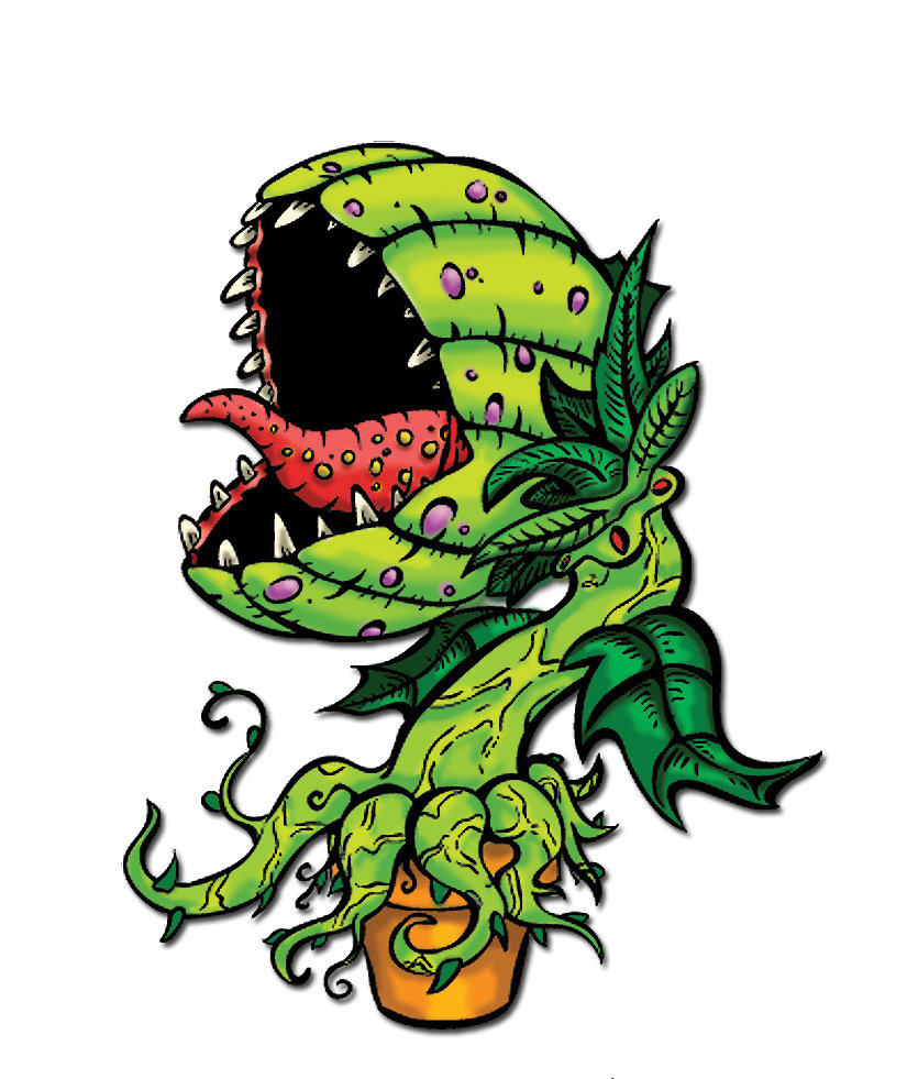 Venus Fly Trap Cartoon Artwork Of Venus Flytraps From