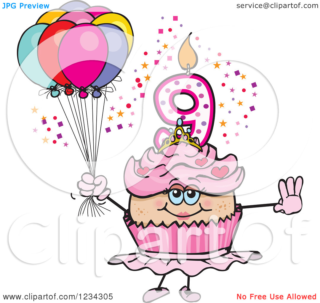 9th Birthday Clipart