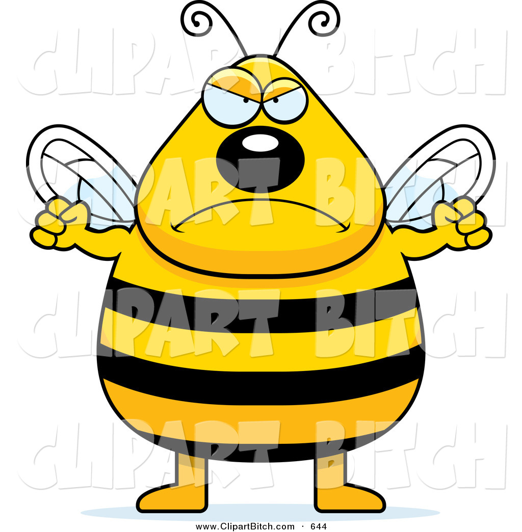 Angry Bee Clip Art