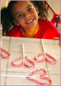 Before You Unwrap Your Candy Canes  Break About 4 Inches Off The