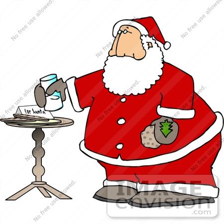 Santa Eating Cookies Clipart - Clipart Kid