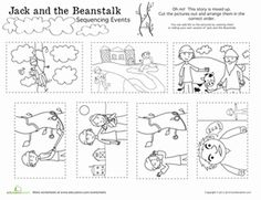 First Grade Fairy Tales Comprehension Worksheets  Jack And The