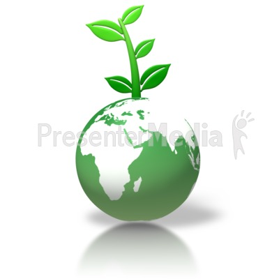 Green Earth Leaves Growing   Wildlife And Nature   Great Clipart For