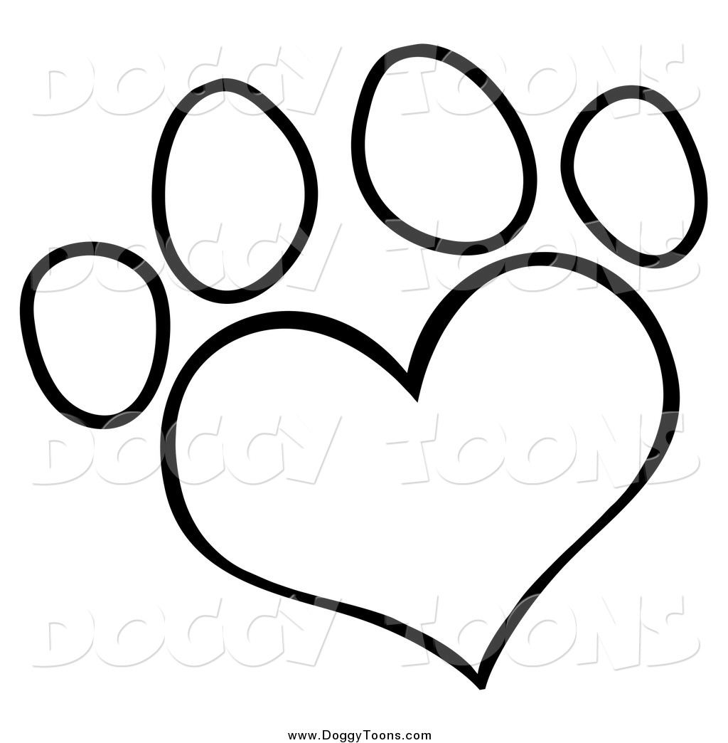 heart paw print clipart clipart suggest