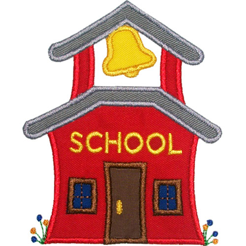 Clip Art School House Clipart old school house clipart kid clip art applique