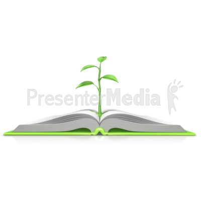 Plant Growing Out Of Book   Presentation Clipart   Great Clipart For