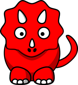 Red Dinosaur Clipart - Clipart Kid