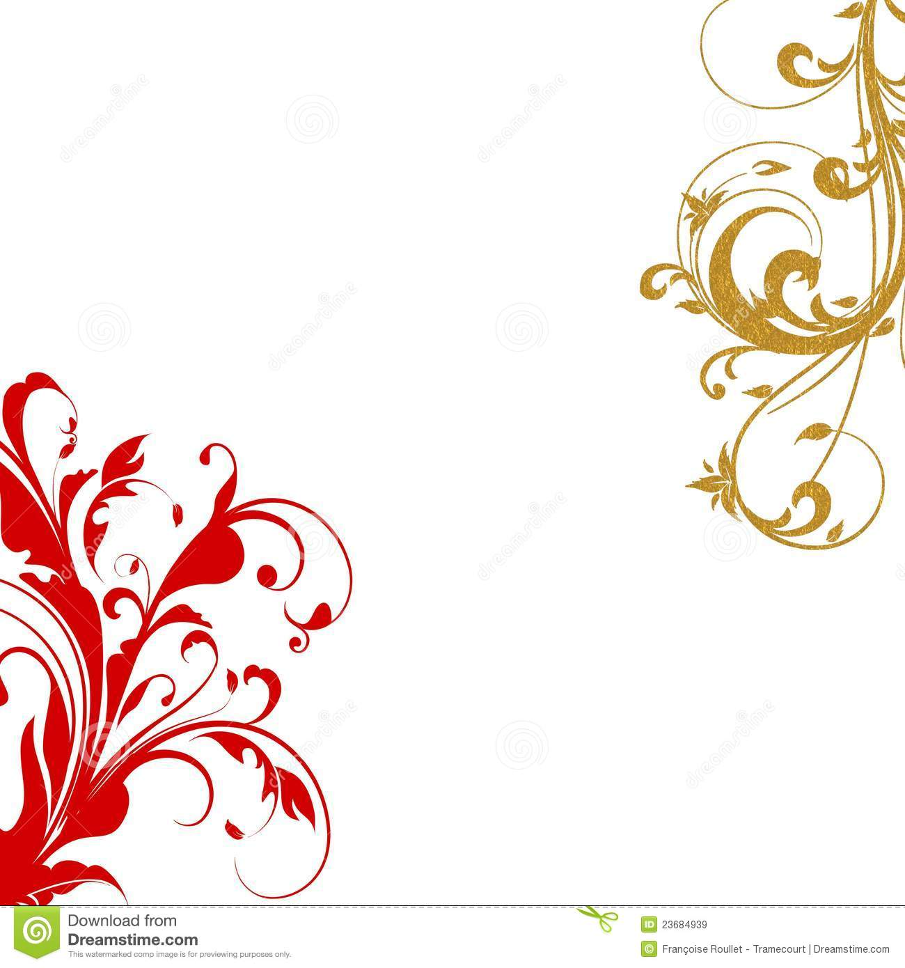 Elegant Swirl Design Border Stock Illustration