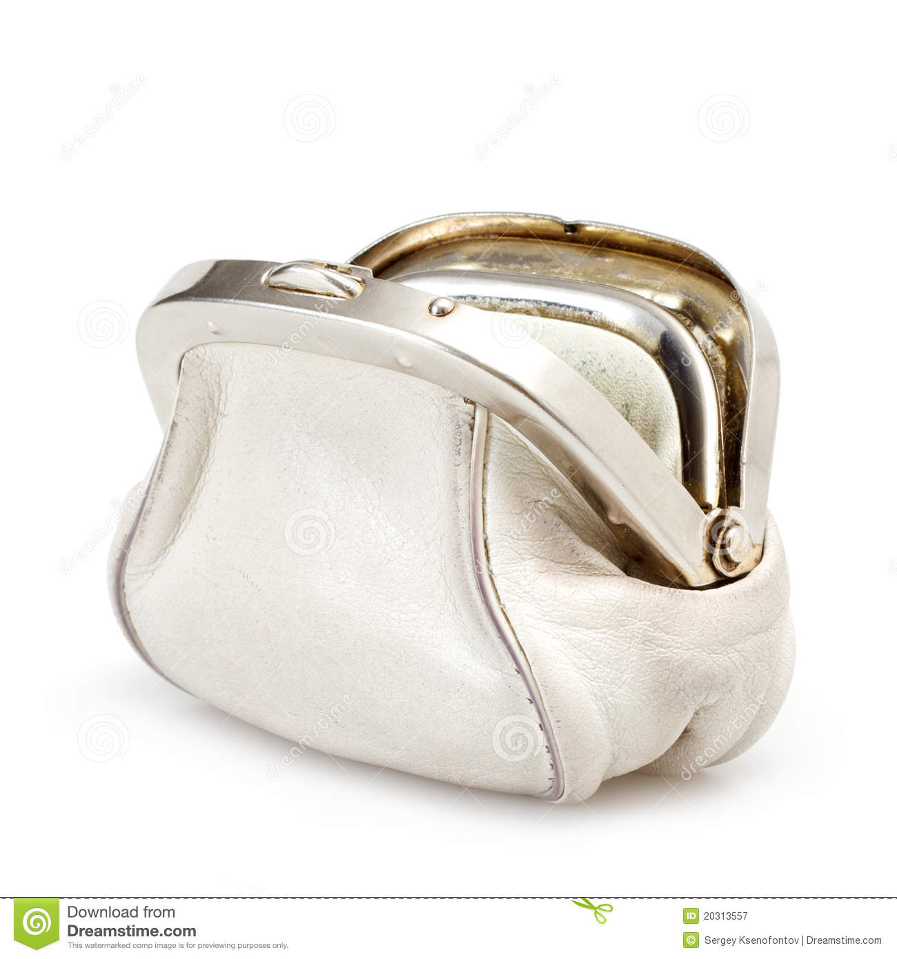 Royalty Free Stock Photography  Open White Purse