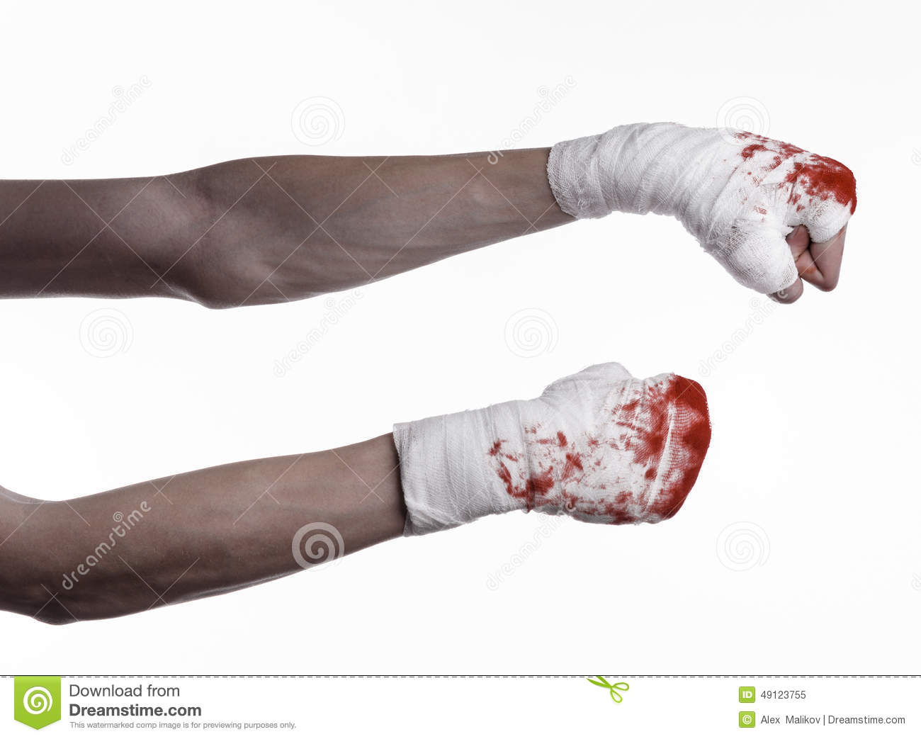 Shook His Bloody Hand In A Bandage Bloody Bandage Fight Club Street