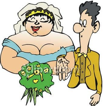 0060 0808 1415 5451 Skinny Guy Marrying A Fat Girl Clipart Image Jpg