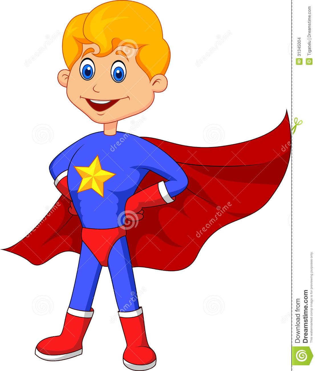 Boy Super Hero Clip Art