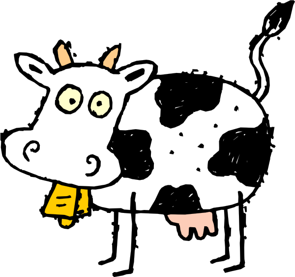 Cartoon Cow Clip Art   Vector