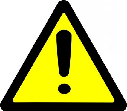 Caution Sign Clipart   Clipart Panda   Free Clipart Images