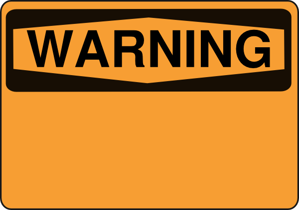 Caution Warning   Clipart Best