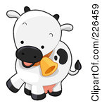 Clip Art 226459 Royalty Free Rf Clipart Illustration Of A Cute Cow